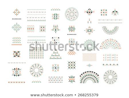 Abstract vector ethnic pattern cards set Stock photo © balabolka