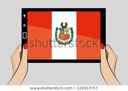 タブレット ペルー フラグ 画像 レンダリング ストックフォト © tang90246