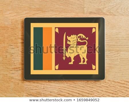 Tabletta Sri Lanka zászló kép renderelt mű Stock fotó © tang90246