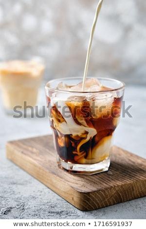 leite · café · coquetel · congelada · vidro - foto stock © maxsol7