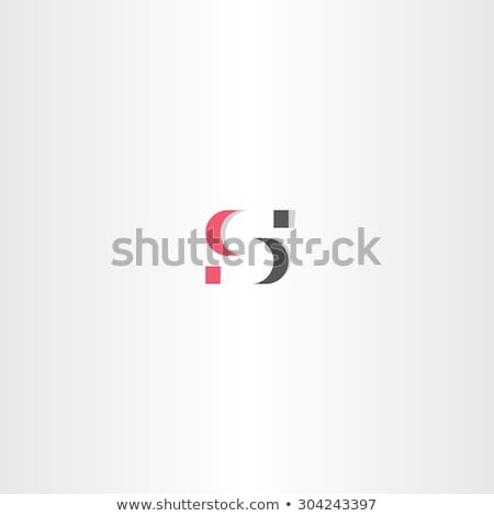 red gray logo letter s icon Stock photo © blaskorizov