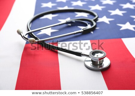 Stethoscope on American Flag Stock photo © feverpitch