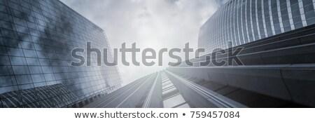 üzlet futurisztikus felhőkarcoló szalag számítógép égbolt Stock fotó © alphaspirit