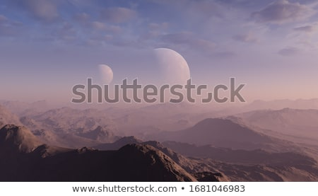 yabancı · manzara · görüntü · bilinmeyen · gezegen · arka · plan - stok fotoğraf © aliencat