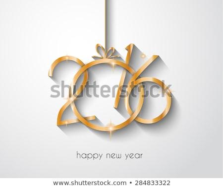 Stock fotó: 2016 · boldog · új · évet · karácsony · szórólapok · vacsora · meghívók
