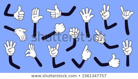 Cartoon hand gloved , illustration of various hands Stock photo © kiddaikiddee