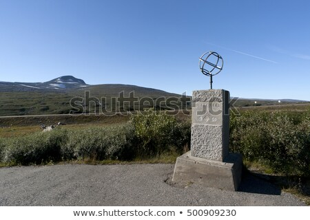 arctic circle marker norway stock photo © slunicko