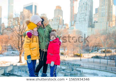 Сток-фото: матери · ребенка · парка · зима · женщину · дерево