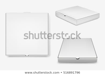 картона · коробки · пиццы · закрыто · изолированный · красный · контейнера - Сток-фото © elgusser