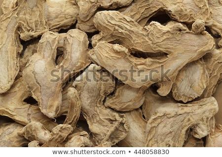 Pile of Organic Dried Ginger root (Zingiber officinale) Stock photo © ziprashantzi