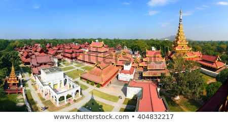 Panorama of Royal Palace in Mandalay Stock photo © Mikko