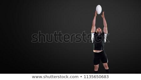 Rugby jogador pronto branco esportes Foto stock © wavebreak_media