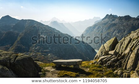 big rock with hikers Stock photo © morrbyte