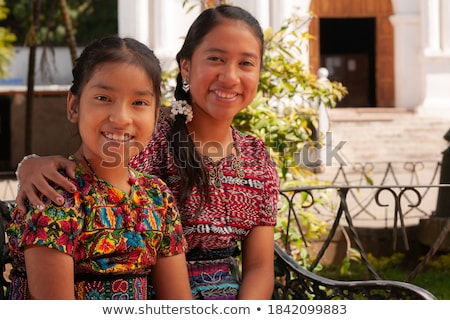 Stock photo: cute Peruvian couple