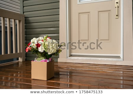 A porch with flowering plants Stock photo © bluering
