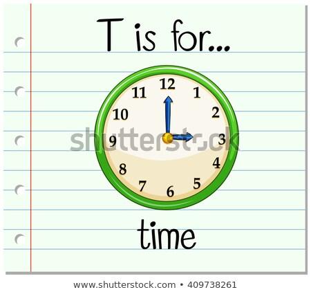 T betű idő illusztráció háttér művészet oktatás Stock fotó © bluering