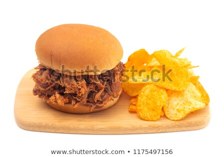 rustico · americano · carne · di · maiale · sandwich · grasso - foto d'archivio © zkruger