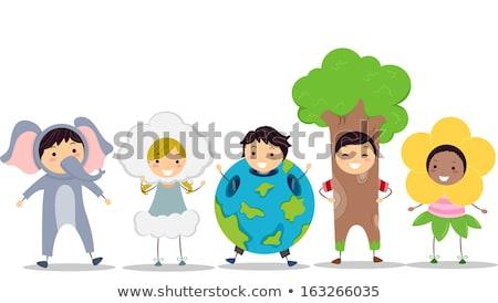 Kid in tree costume Stock photo © bluering