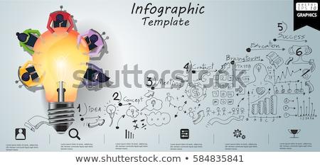 Startup concept - infographic. Stock photo © tandaV