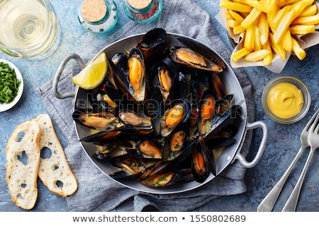 mussel with french fries Stock photo © M-studio