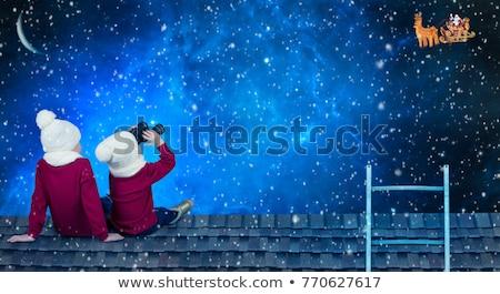 czeka · Święty · mikołaj · piękna · uśmiechnięty · rodziny · Święty · mikołaj - zdjęcia stock © adrenalina