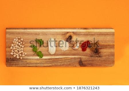 чеснока · подготовка · разделочная · доска · рубленый · Ломтики - Сток-фото © luissantos84
