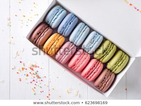 multicolored macarons in box stock photo © user_11224430