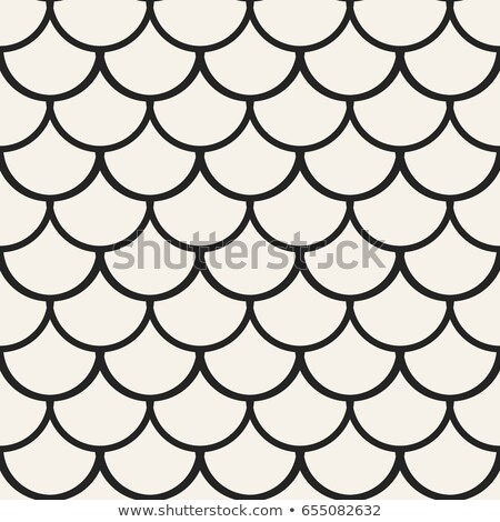 Stylish Minimalistic Halftone Grid. . Vector Seamless Black and White Pattern Stock photo © Samolevsky