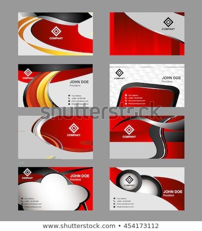 Grau Welle Briefkopf Design modernen Stil drucken Stock foto © SArts