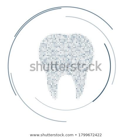 dentistry symbols dark dots background stock photo © tefi