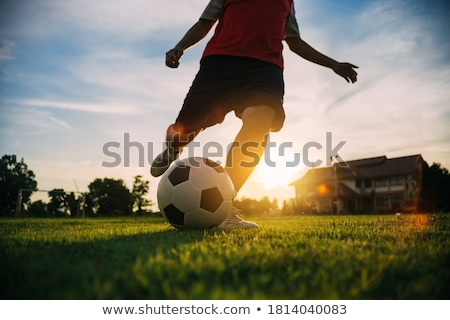 Football match at twilight Stock photo © joyr