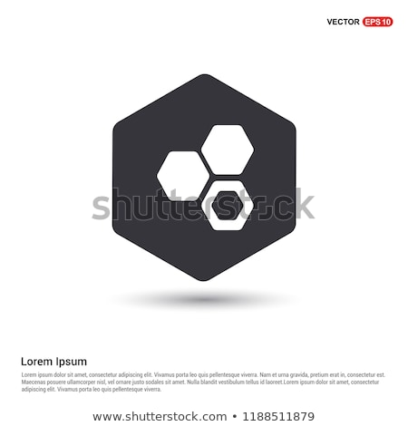 Icon of chemistry hexa connection of atoms Stock photo © angelp