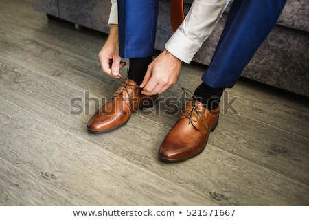 Business meeting classic shoes Stock photo © studiostoks