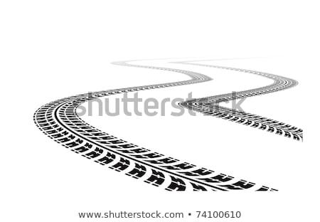 Drogowego opon biały perspektywy samochodu sportu Zdjęcia stock © SArts