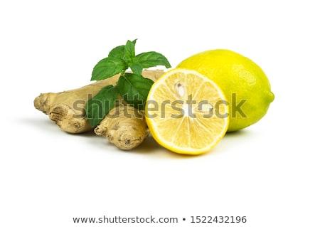 Gengibre limão cal branco fresco Foto stock © Digifoodstock