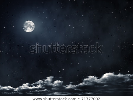 Büyük dolunay gece star gökyüzü Noel Stok fotoğraf © orensila
