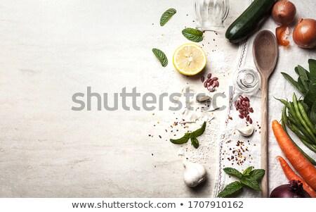 fresco · brócolis · preparação · de · alimentos · alimentação · saudável - foto stock © m-studio
