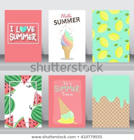 Lemons Card Design Stock photo © ivaleksa