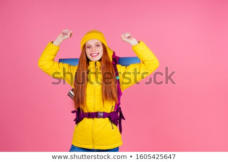Redheaded girl backpacker Stock photo © RazvanPhotography