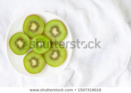 Plaat kiwi witte vruchten tropische Stockfoto © Digifoodstock