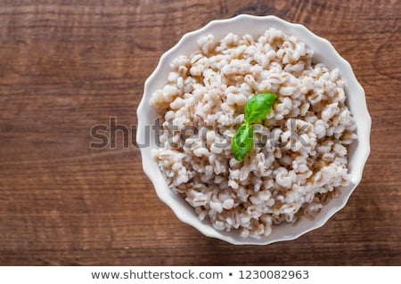 Stock photo: cooked pearl barley