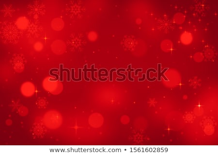 Abstract glowing Christmas gold and red background with snowflakes Stock photo © alphaspirit