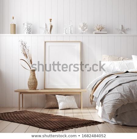 Stock fotó: Fehér · poszter · keret · vázlat · 3D · renderelt · kép