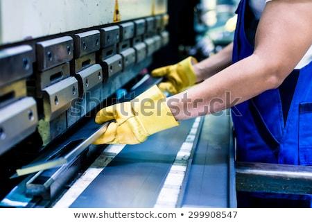 endüstriyel · basın · makine · vektör · dizayn · örnek - stok fotoğraf © rastudio