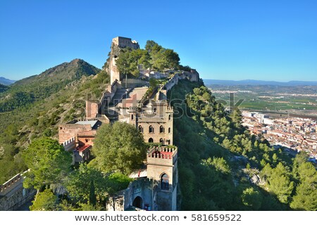 Eski binalar İspanya pazar kare şehir Stok fotoğraf © smartin69