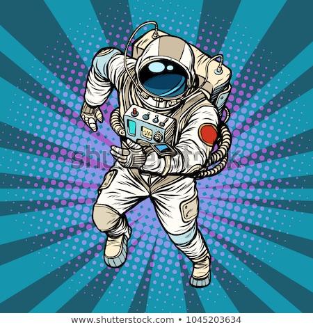 űrhajós hős űr pop art retro képregény Stock fotó © studiostoks