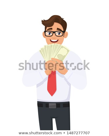 Zakenman cash geld rijkdom Stockfoto © stokkete