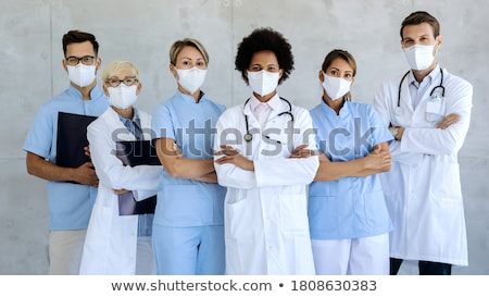 Team of technicians standing with arms crossed Stock photo © wavebreak_media