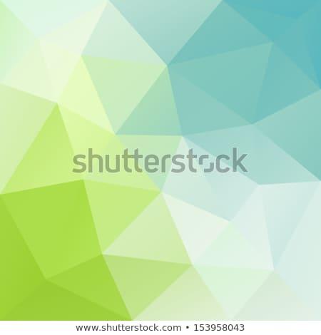 Grünen Dreieck niedrig geometrischen Kopie Raum abstrakten Stock foto © SArts