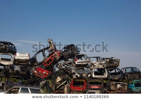 Old cars are waiting for recycling proces Stock photo © adamr